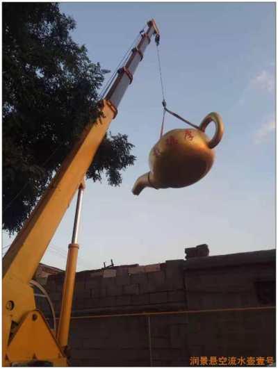 宝葫芦流水壶-新乐市润景雕塑打造优品